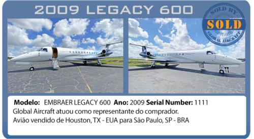 Jato 2009 Legacy 600 vendido por Global Aircraft