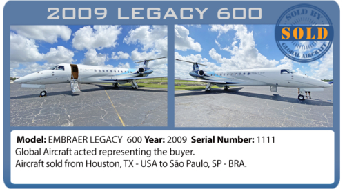Jet Legacy 600 sold by Global Aircraft