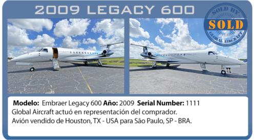 Jet Legacy 600 vendido por global aircraft