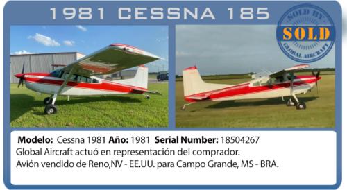 Avión vendido Cessna 185