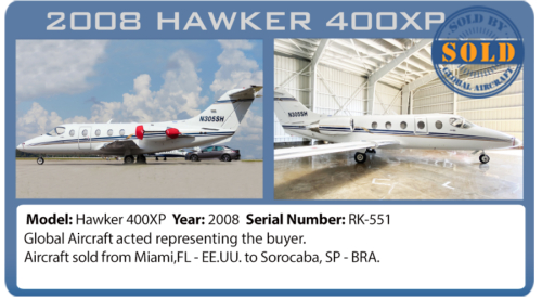 Jet Hawker 400XP sold by Global Aircraft