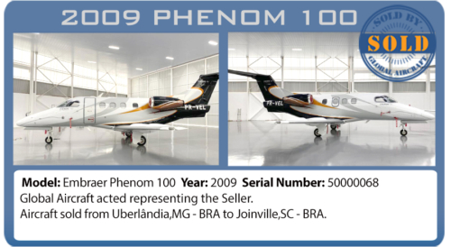 Jet 2009 Phenom 100 sold by Global Aircraft