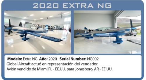 Avión 2020 Extra NG  vendido