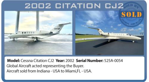 Jet Citation CJ2 sold by Global Aircraft