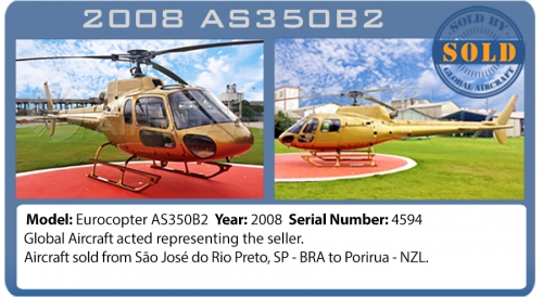 Helicopter Eurocopter AS350B2 Sold