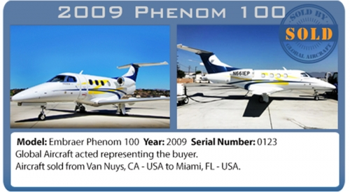 Jet Embraer Phenom 100 Sold by Global Aircraft Corp