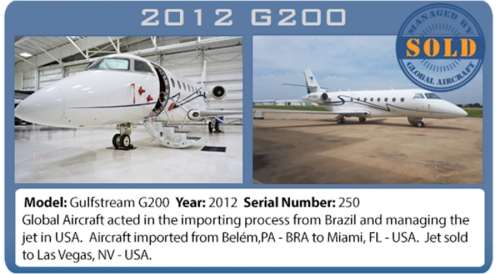 Jet Gulfstream G200 Sold by Global Aircraft Corp