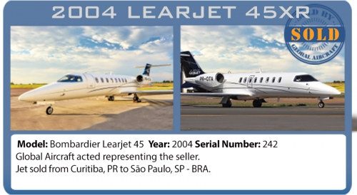 Jet 2004 Bombardier Learjet 45XR sold